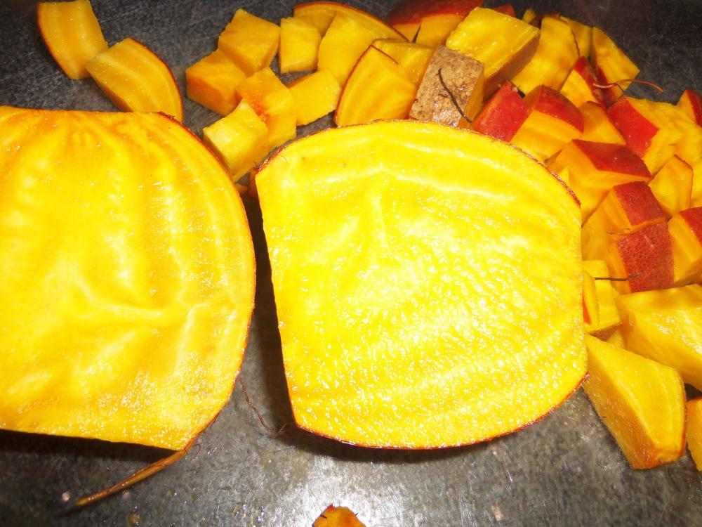 golden beet coconut soup