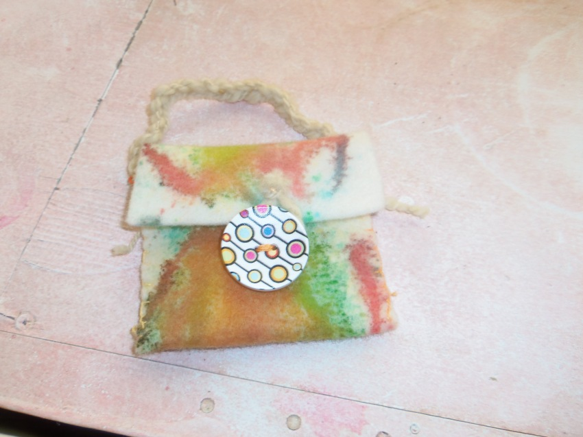 front of the finished treasure pouch