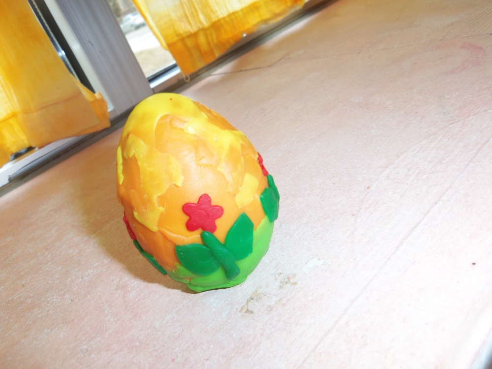 decorated wooden egg