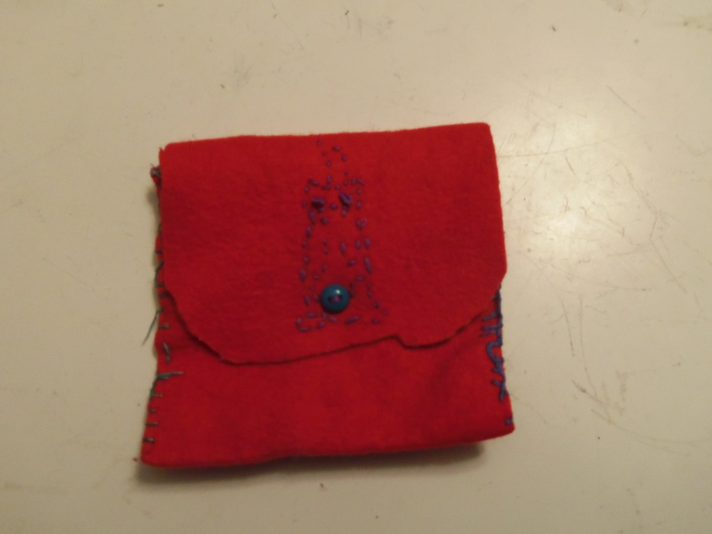 This is the treasure pouch that Gabi made me