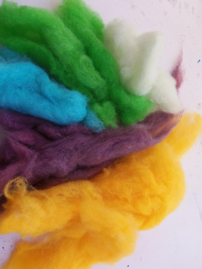 kool aid dyed wool fleece