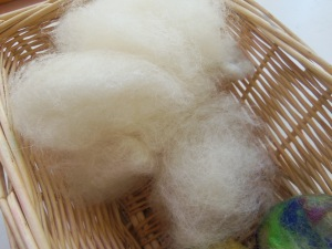 wool for  felted soap--some hand dyed, some not