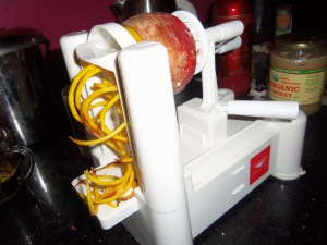 My new spiralizer in action!