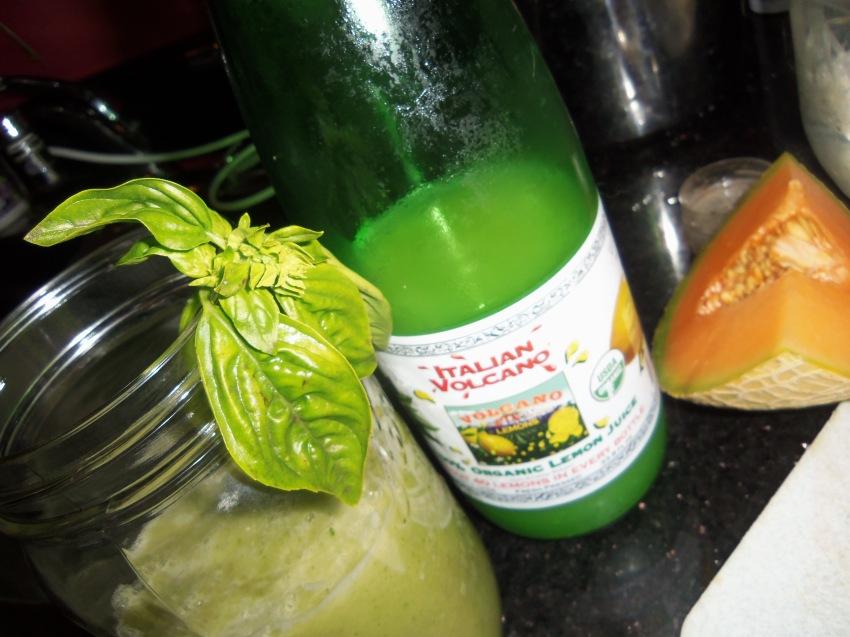 Basil-Cucumber-Cantelope Lemonad
