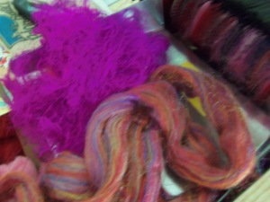 firefox fiber and sari silk before carding