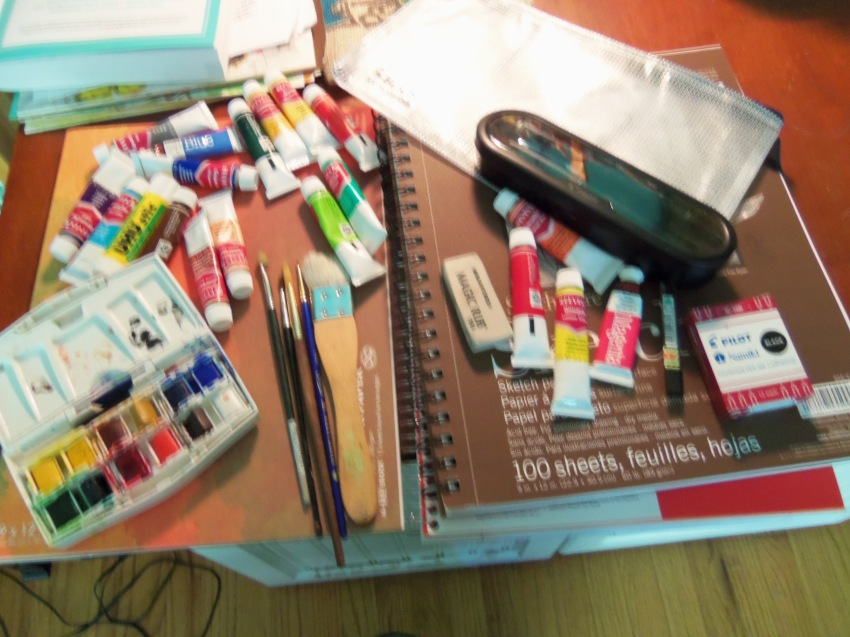 art supplies for my trip
