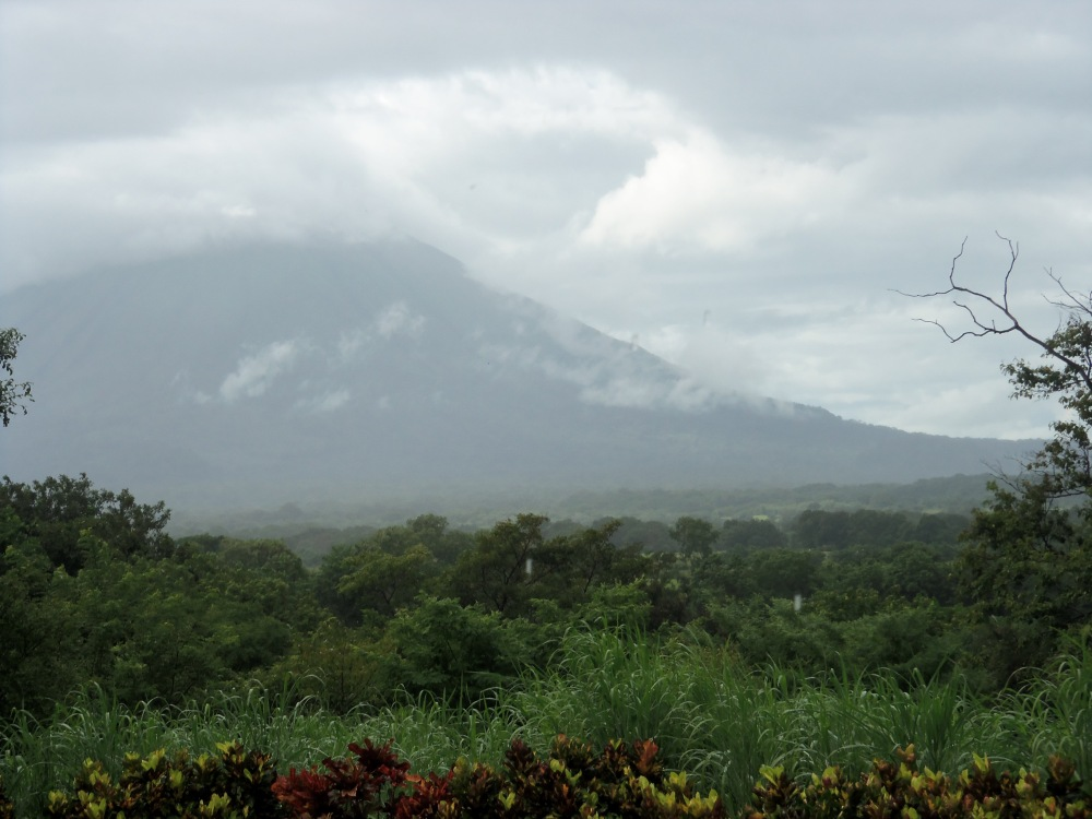 The view from my room at El Encanto--that is the volcano Concepcion