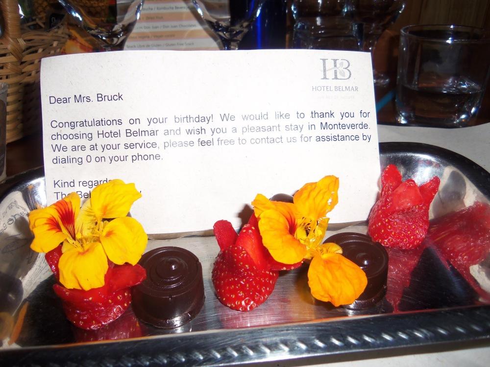 Strawberries and chocolates for my birthday