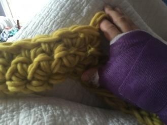 ta-da! Finger crochet!